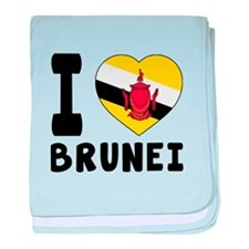I Love Brunei baby blanket