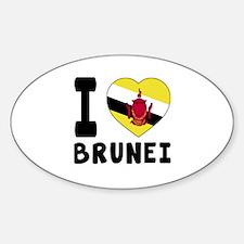I Love Brunei Decal