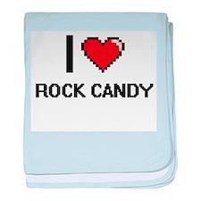 I love Rock Candy digital design baby blanket