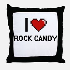 I love Rock Candy digital design Throw Pillow
