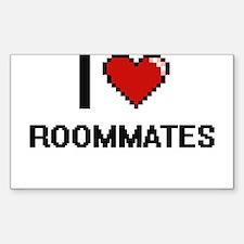 I love Roommates digital design Decal