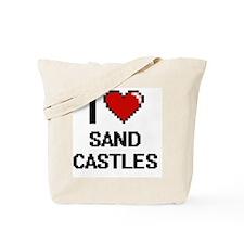 I love Sand Castles digital design Tote Bag