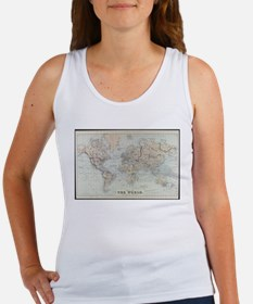Vintage Map of The World (1875) Tank Top