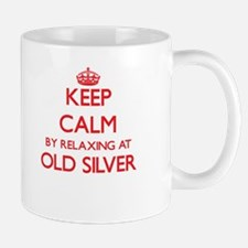 Keep calm by relaxing at Old Silver Mas Mugs