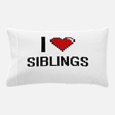 I love Siblings digital design Pillow Case