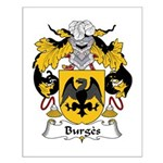 Burges Family Crest Small Poster