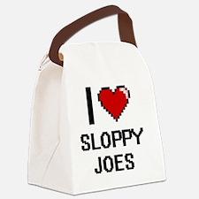 I love Sloppy Joes digital design Canvas Lunch Bag