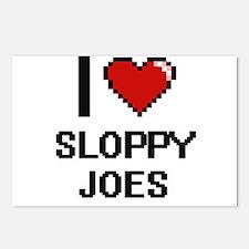 I love Sloppy Joes digita Postcards (Package of 8)