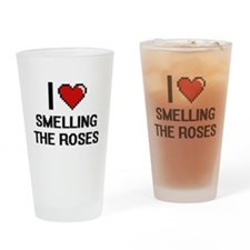 I love Smelling The Roses digital d Drinking Glass