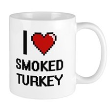 I love Smoked Turkey digital design Mugs