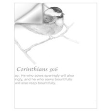 2 Corinthians 9:6 Chickadee Drawing Wall Decal