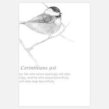 2 Corinthians 9:6 Chickadee Drawing
