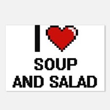 I love Soup And Salad dig Postcards (Package of 8)