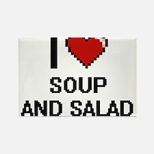 I love Soup And Salad digital design Magnets