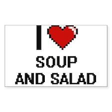 I love Soup And Salad digital design Decal