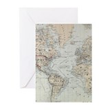 World map Greeting Cards (10 Pack)