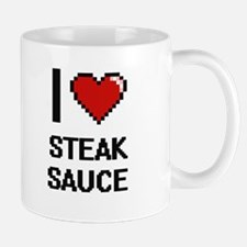 I love Steak Sauce digital design Mugs