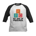 1st Day Of Preschool Kids Baseball Jersey