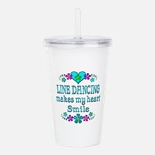 Line Dancing Smiles Acrylic Double-wall Tumbler