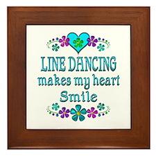 Line Dancing Smiles Framed Tile