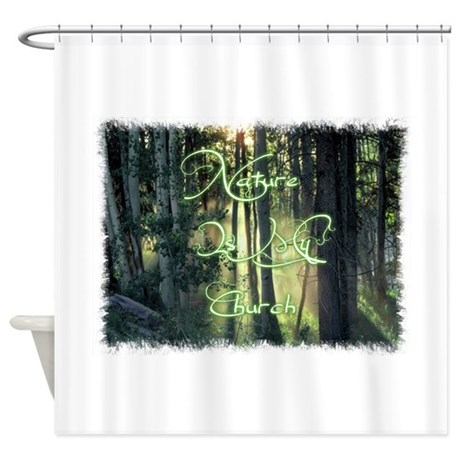 nature is my church shower curtain by gmlsbunnyboutique