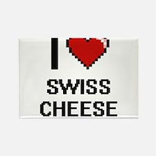I love Swiss Cheese digital design Magnets