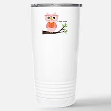 Cute Owl Reading Travel Mug