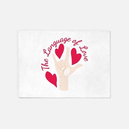 Language Of Love 5'x7'Area Rug
