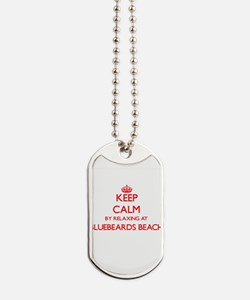Keep calm by relaxing at Bluebeards Beach Dog Tags