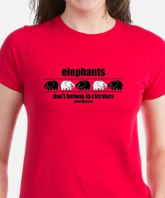 Elephants Don't Belong - Dark T-Shirt