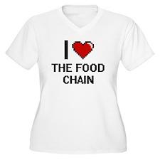 I love The Food Chain digital de Plus Size T-Shirt