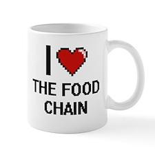 I love The Food Chain digital design Mugs