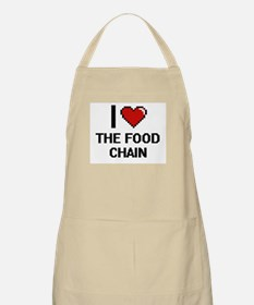 I love The Food Chain digital design Apron