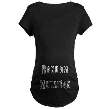 MATERNITY CUT (belly print) Dark T-Shirt