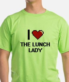 I love The Lunch Lady digital design T-Shirt
