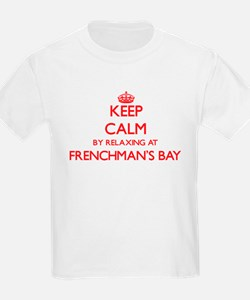 Keep calm by relaxing at Frenchman'S Bay V T-Shirt