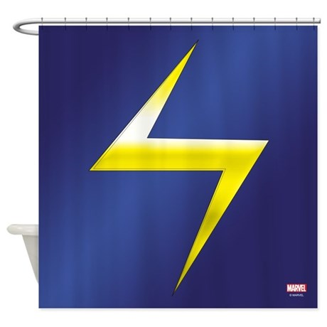 Ms Marvel Bolt Shower Curtain By MsMarvel