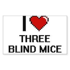 I love Three Blind Mice digital design Decal