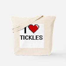 I love Tickles digital design Tote Bag