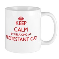 Keep calm by relaxing at Protestant Cay Virgi Mugs