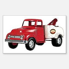 Vintage Toy Truck Sticker (Rectangle)