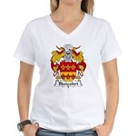 Blancafort Family Crest Women's V-Neck T-Shirt