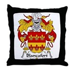 Blancafort Family Crest Throw Pillow