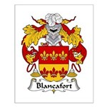 Blancafort Family Crest Small Poster