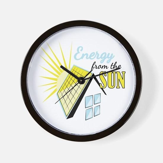 Energy From Sun Wall Clock
