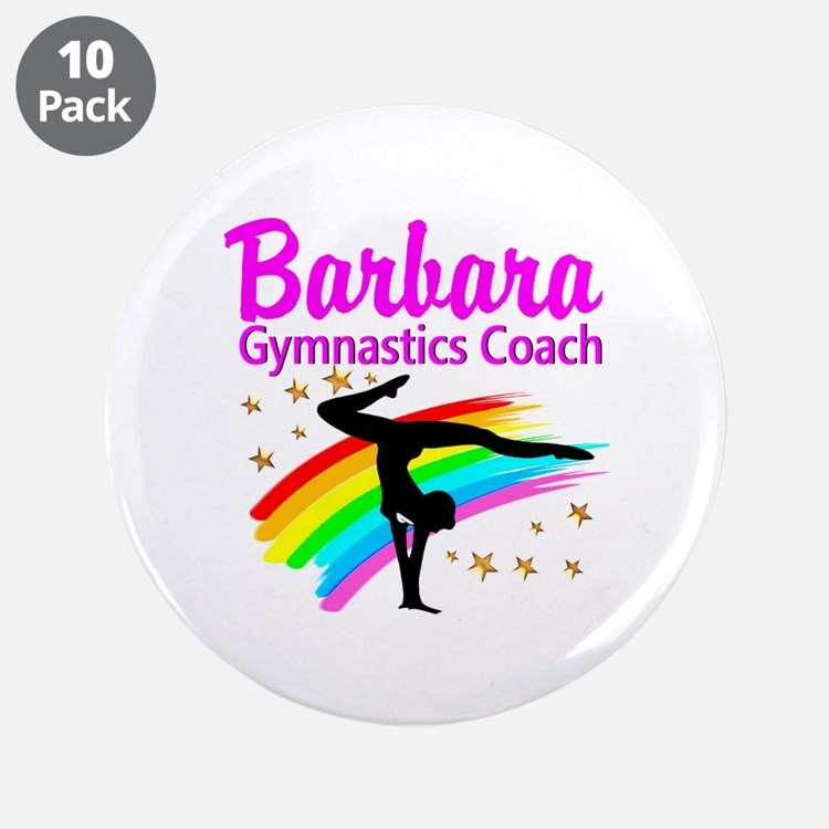 "GYMNAST COACH 3.5"" Button (10 pack)"