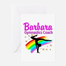 GYMNAST COACH Greeting Cards (Pk of 10)