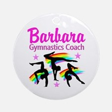 GYMNAST COACH Round Ornament