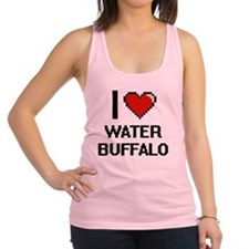 I love Water Buffalo digital de Racerback Tank Top