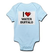 I love Water Buffalo digital design Body Suit